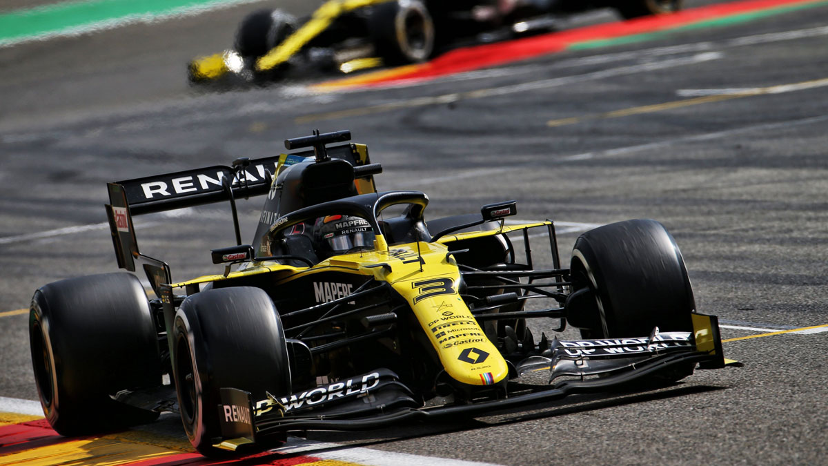 RICCIARDO HAS BEEN RAPID ALL WEEKEND AT SPA-FRANCORCHAMPS