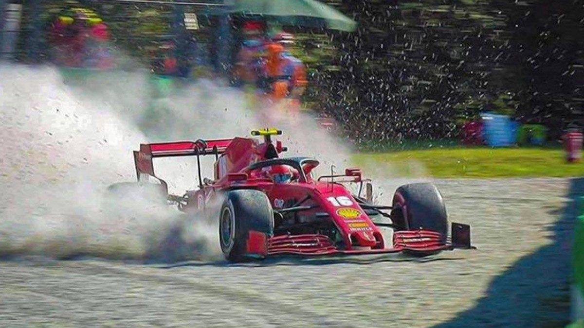 F1 ITALIAN GP - LECLERC ACKNOWLEDGES HIS OWN MISTAKE