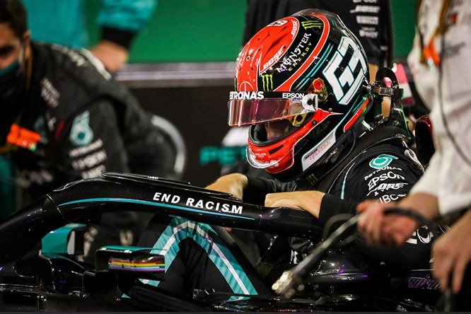 Hungary - Russell in Mercedes for test
